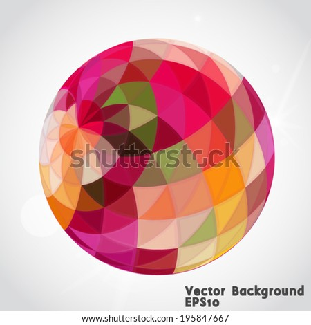 Abstract technology 3d circle. Vector illustration.