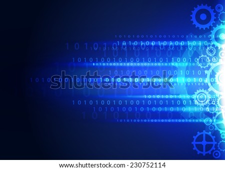 Abstract technology digital background, vector illustration - stock vector