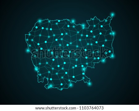 Abstract technology digital backgrounds cambodia map world stock abstract technology digital backgrounds with cambodia map map point scales on dark background gumiabroncs Image collections