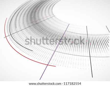 Abstract technology dynamic background - stock vector