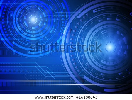 Abstract technology futuristic background. Vector illustration