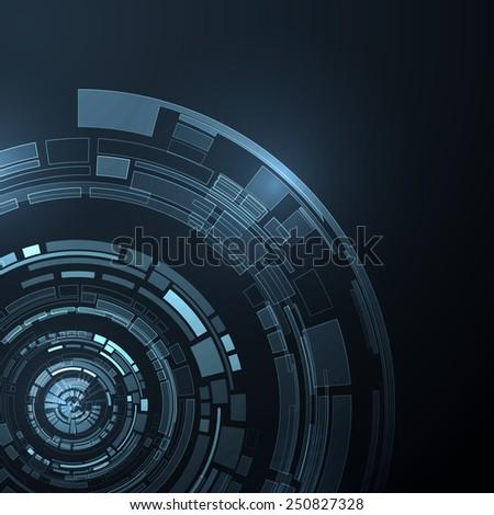 Abstract technology futuristic vector background. Vector eps10. - stock vector