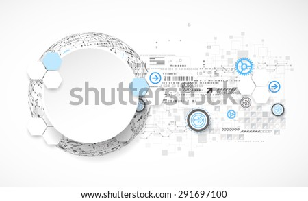 Abstract technology globe background. Vector - stock vector