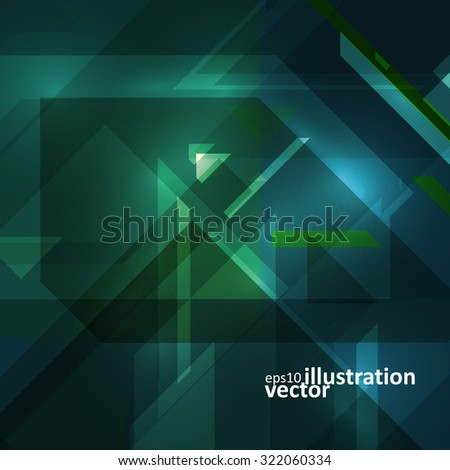 Abstract technology illustration, vector stylish concept eps10