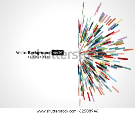 Abstract technology lines vector background. Eps 10 - stock vector