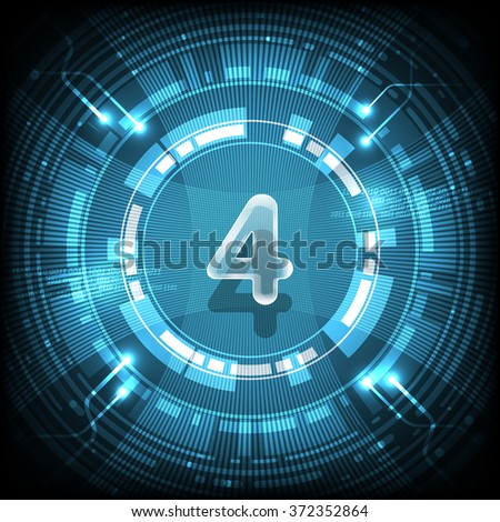 Abstract technology Number 4 - stock vector