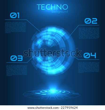 Abstract technology round shape background. Vector eps10. - stock vector