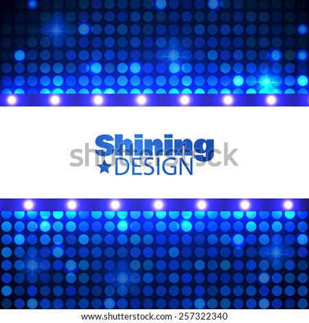 Abstract technology shining background. Vector illustration - stock vector