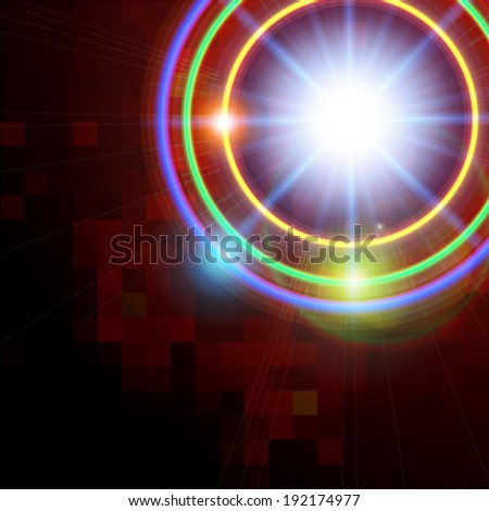 Abstract technology shining circle vector background.