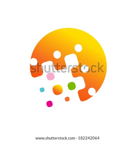 Abstract technology sign Branding Identity Corporate vector logo design template Isolated on a white background - stock vector