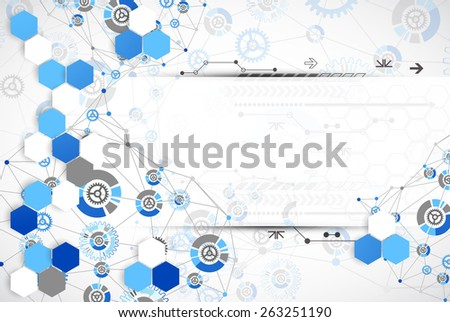 Abstract technology template background. Vector - stock vector