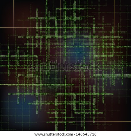 Abstract  technology vector background with  binary code. - stock vector
