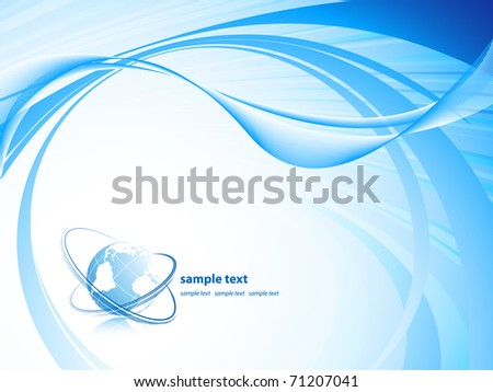 abstract technology vector background with copy space and globe. Eps10 - stock vector