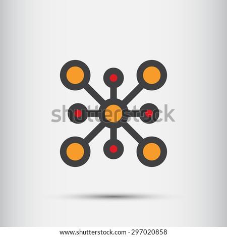 Abstract Technology vector logo design template.. - stock vector