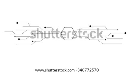 Abstract technology vector structure on the gray background - stock vector