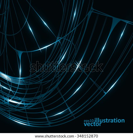 Abstract technology, vector technical drawing, shiny space background eps10