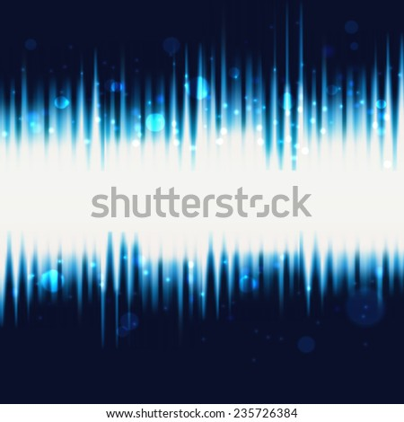 Abstract technology waves vector background. Web banner and card design elements.