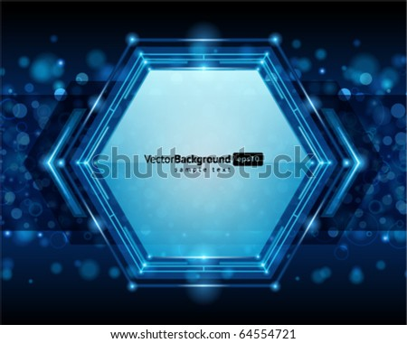 Abstract technology wire hexagonal vector background - stock vector
