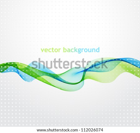 Abstract template background with blend wave - stock vector