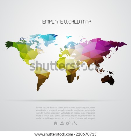 Abstract template background color map stock vector 2018 220670713 abstract template background with color map gumiabroncs Choice Image