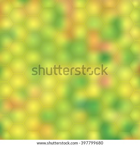 Abstract template background with honeycomb shapes. Spring vector Illustration.