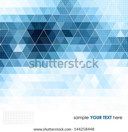Abstract template background with triangle shapes - stock vector