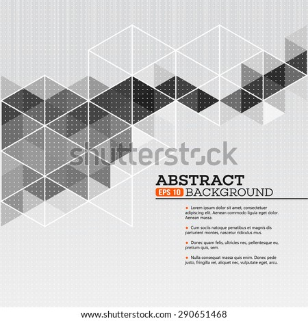 Abstract template background with triangle shapes EPS 10 - stock vector