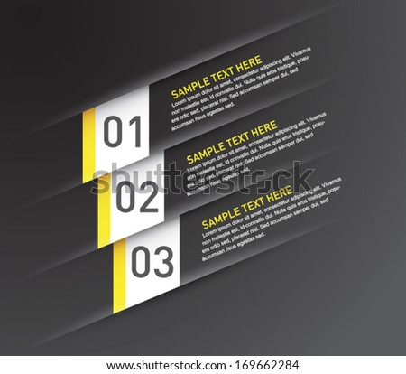 Abstract template banner with cut paper for business design, infographics, reports, progress, number options, diagram, step presentation, websites or workflow layout. Modern and clean style