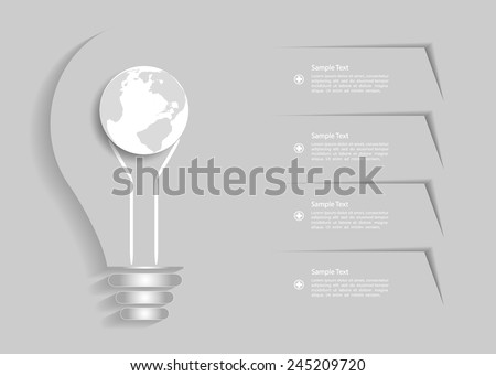 Abstract template in grey background, infographic Vector Eps10 - stock vector