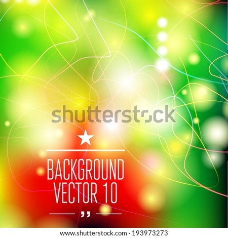 Abstract template with sparks and flashes for business artwork