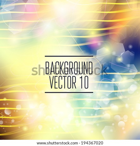 Abstract template with sparks and flashes for business artwork  - stock vector