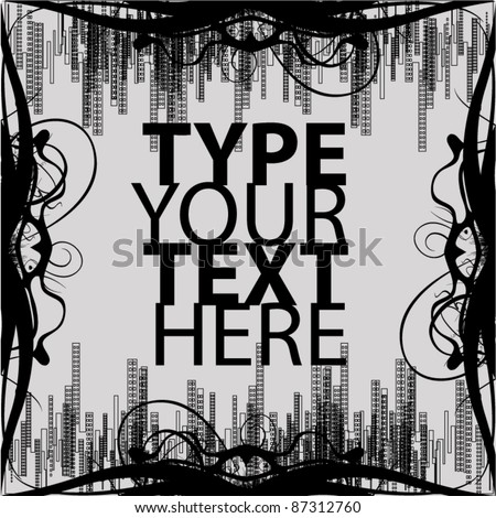 abstract text background - stock vector