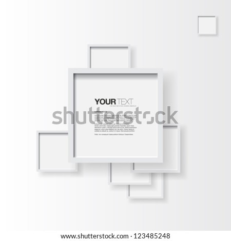 Abstract text box with white frame on clear background vector - stock vector