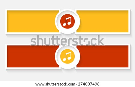 Abstract text frames for your text and music icon - stock vector