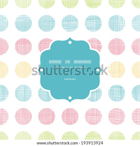 Abstract textile polka dots stripes frame seamless pattern background - stock vector