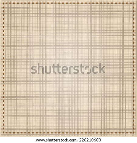 Abstract texture of canvas linen fabric background. Vector illustration.