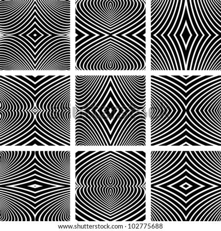 Abstract textured backdrops set. Vector art. - stock vector