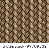 Abstract textured basket weaving surface background. Seamless pattern. Vector. - stock vector