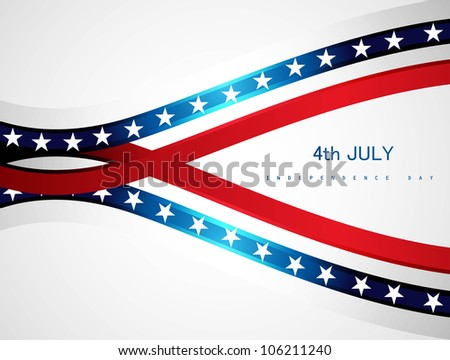 abstract 4th july american independence day - stock vector