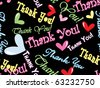 abstract thank you background, vector illustration - stock vector