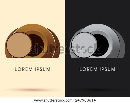 Abstract the tomb of Jesus, stone cave , designed using brown geometric shape, cartoon ,logo, symbol, icon, graphic, vector. - stock vector
