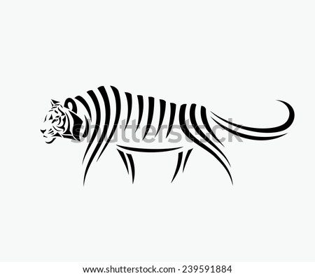 Abstract tiger illustration - stock vector