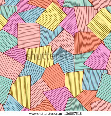 Abstract tile pattern - stock vector