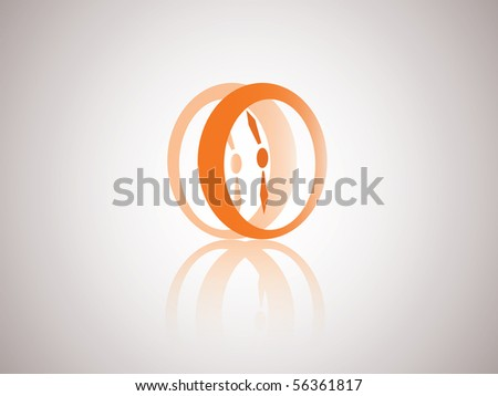 Abstract Time Symbol | Vector Watch Icon - stock vector