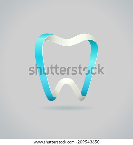 Abstract tooth. Vector symbol - stock vector