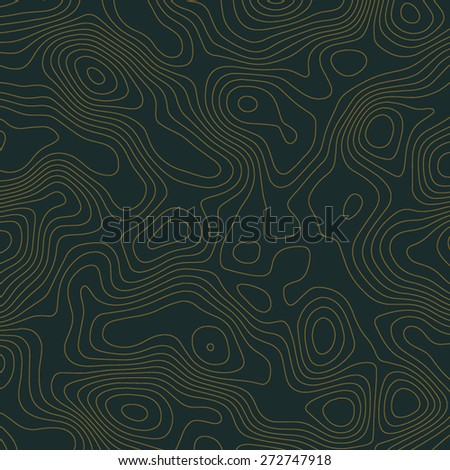 Abstract topographic contours map background - stock vector