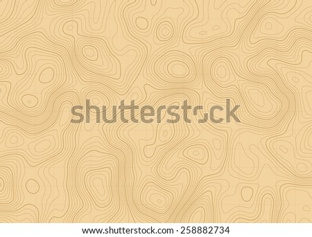abstract topographic contours map background in brown colors - stock vector
