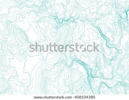 abstract topographic map, vector illustration - stock vector