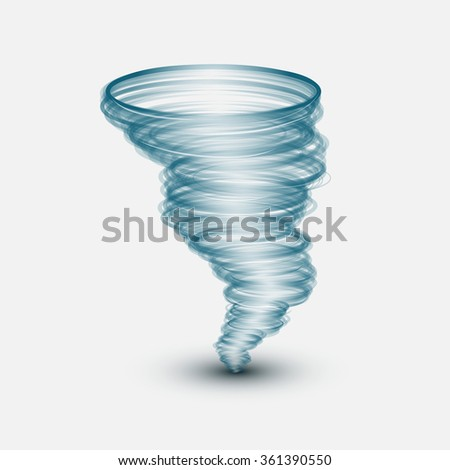 Abstract tornado on isolated background.Vector illustration - stock vector