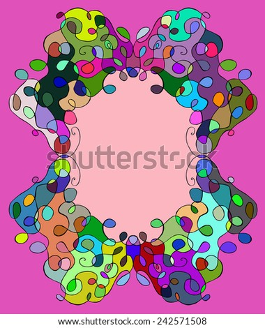 abstract tracery frame painted by hand. Vector illustration